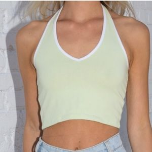 Light green/ neon halter top